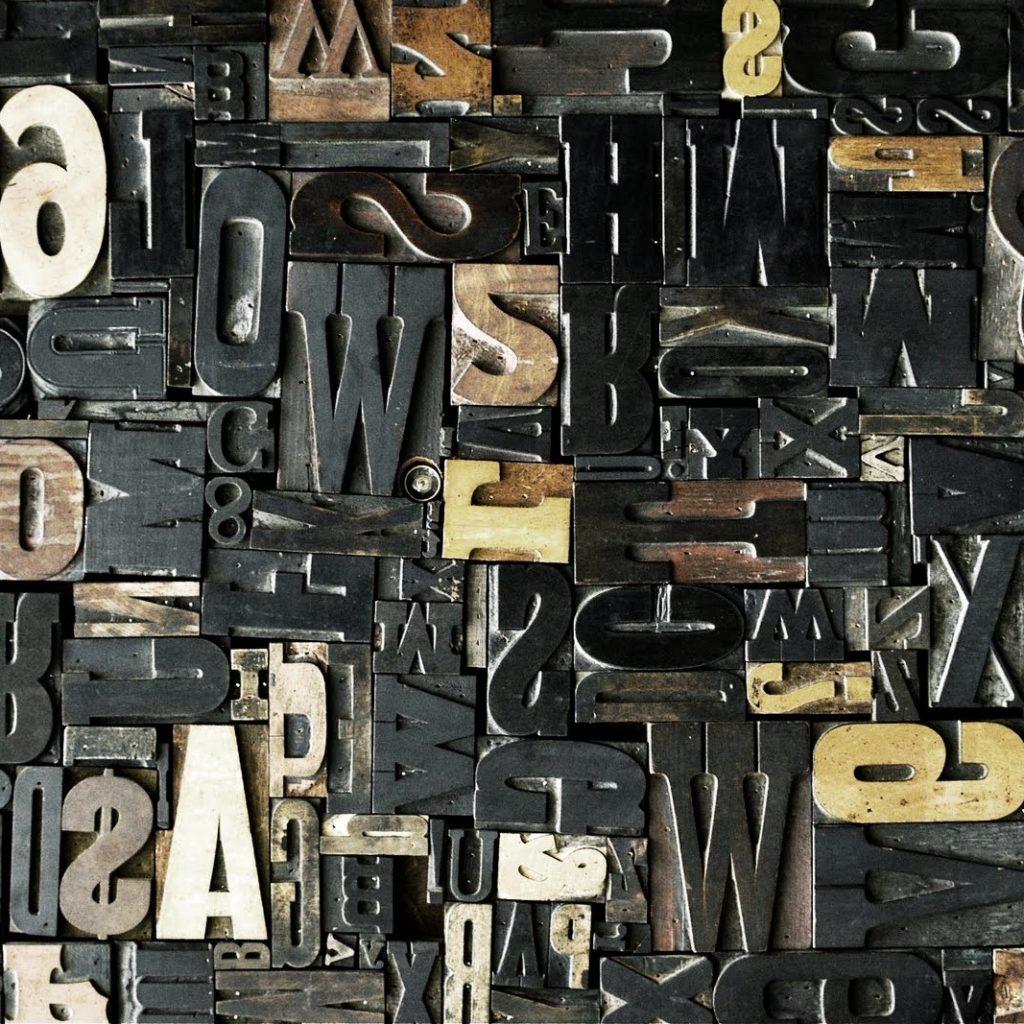 letter printing blocks
